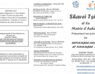 Programme des activités de septembre à décembre 2011