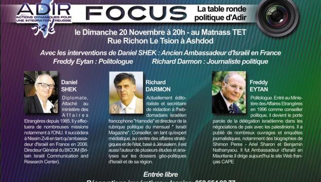 Focus : La table ronde politique d'Adir
