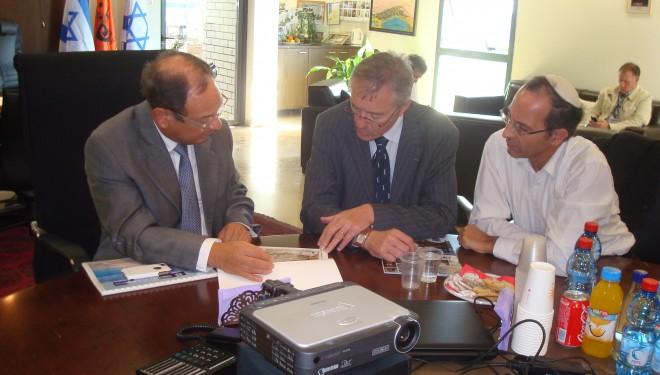ASHKELON : Visite de Patrice MATTON, Consul Général de France