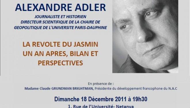 Conférence : Alexandre Adler