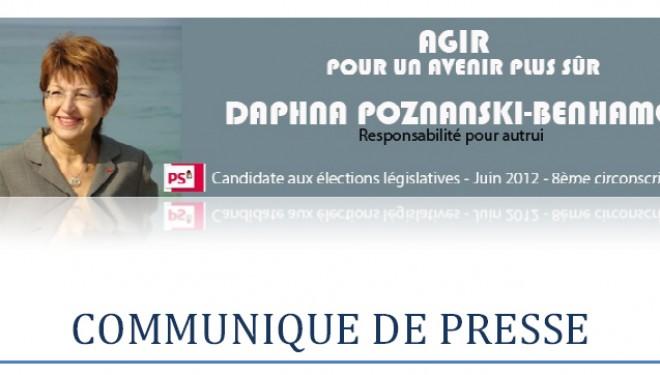 Communiqué de Daphna Poznanski-benhamou