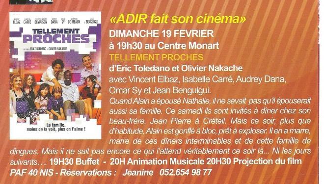 Programme des activités d'ADIR pour le mois de février 2012