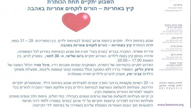 Exposition à Ashdod : la semaine de la protection de l'enfant