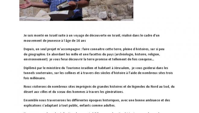 Dan Levy : un guide touristique à votre écoute !