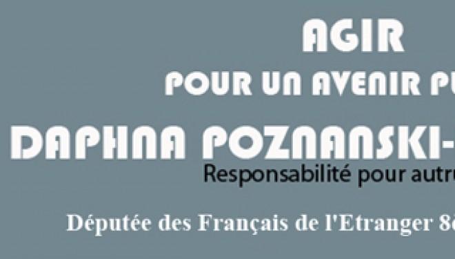 Daphna Poznanski-Benhamou : députée des Français de l'étranger 8ème circonscription