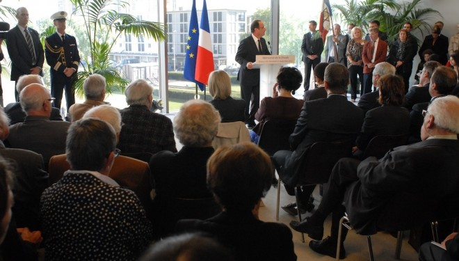 Inauguration du Mémorial de Drancy par le Président de la République française, M. François Hollande