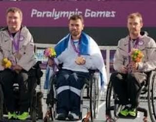 JO paraolympiques 1ère médaille d'or israélienne 2012 : moment particulièrement émouvant.