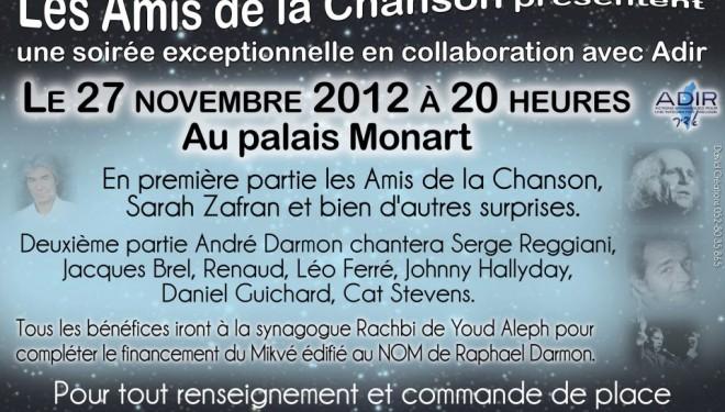 Les Amis de la Chanson se produisent au Palais Monart !