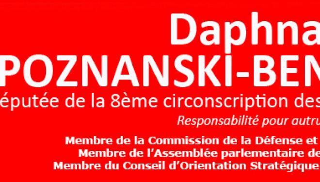 Communiqué de Daphna Poznanski suite a l'annonce de Laurent Fabius