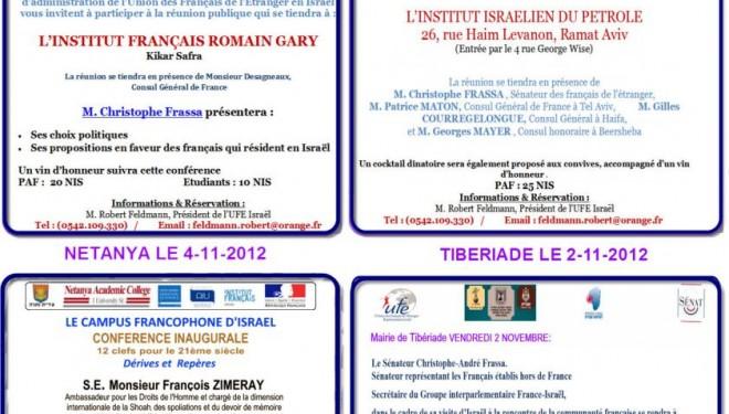 l'Union des Français de l'Etranger vous informe de ses rendez vous importants de Novembre