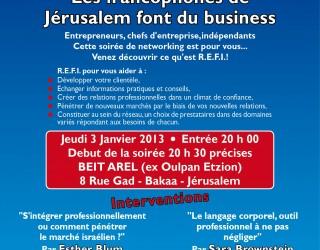 Emploi : Les francophones de Jérusalem font du business !