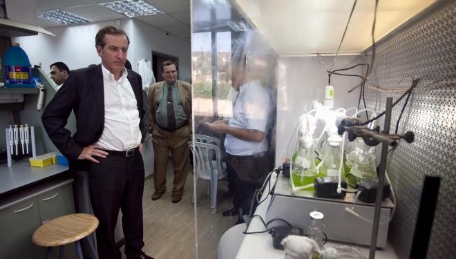 Christophe Bigot a visité des entreprises  de haute technologie en Galilée