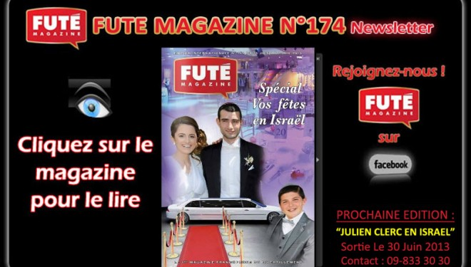Futé Magazine : SPÉCIAL «VOS FÊTES EN ISRAËL»