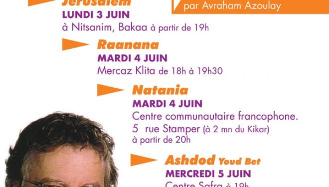 Guy Millière en Israël et à Ashdod le 5 juin prochain !!!