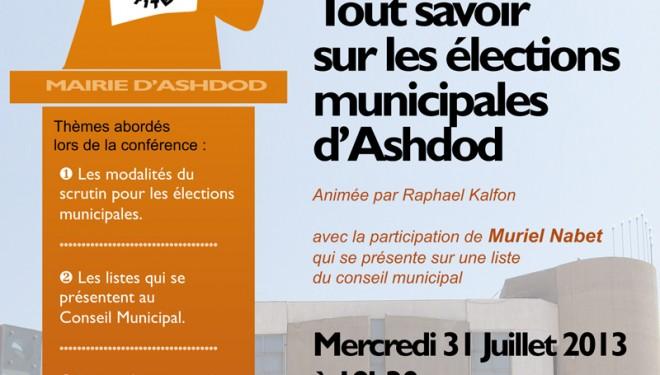 Elections municipales à Ashdod ? Olim de France, notre avenir est entre nos mains !