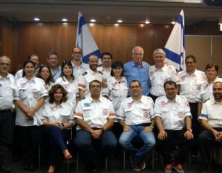 Des médecins français à la médecine d'urgence au M.D.A en Israël