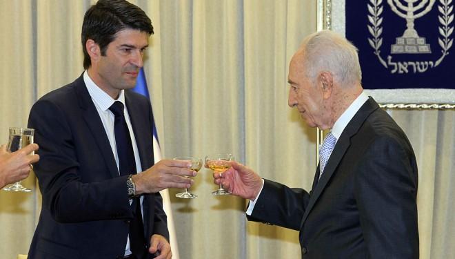 Remise des lettres de créances de l'ambassadeur de France en Israël
