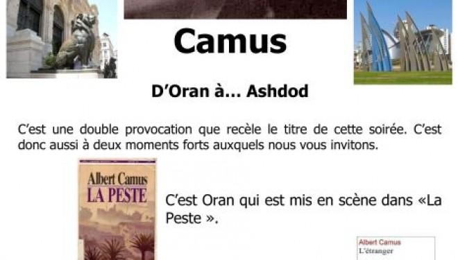 L'Espace Francophone présente «Camus l'Oranais»