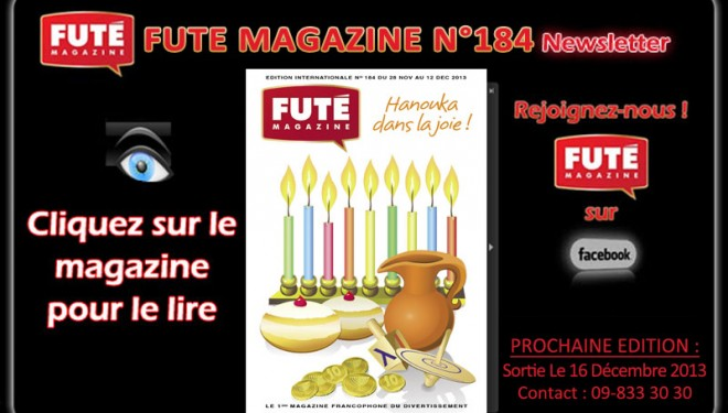 FUTE Magazine : «HANOUKA DANS LA JOIE»