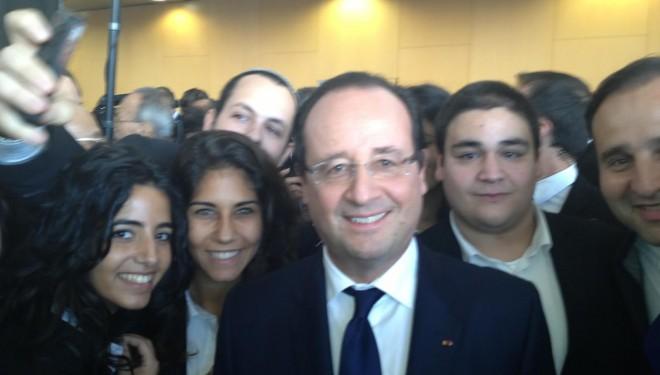 Rencontre du Président François Hollande avec les étudiants de VATEL