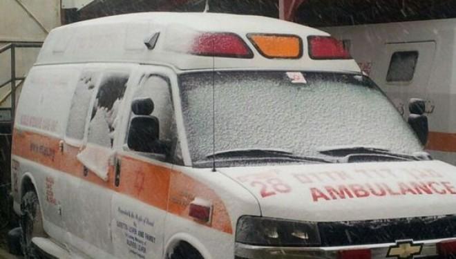 Face à la tempête et à la neige: le MDA gère des centaines d'appels à Jérusalem