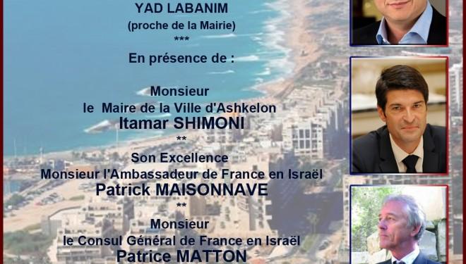 Rassemblement citoyen de la communauté Franco-Israélienne à Ashkelon