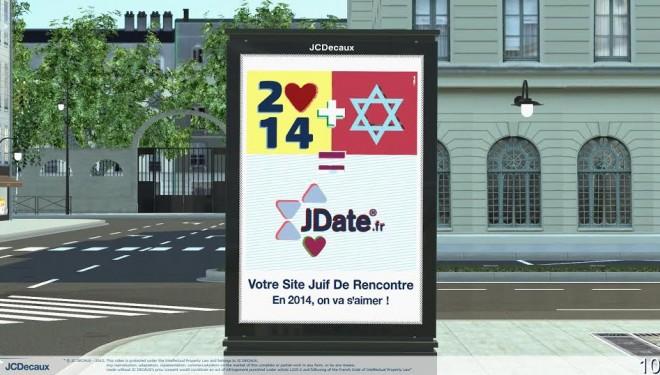 JDATE.FR, désaffichage de ses panneaux publicitaires à Nanterre