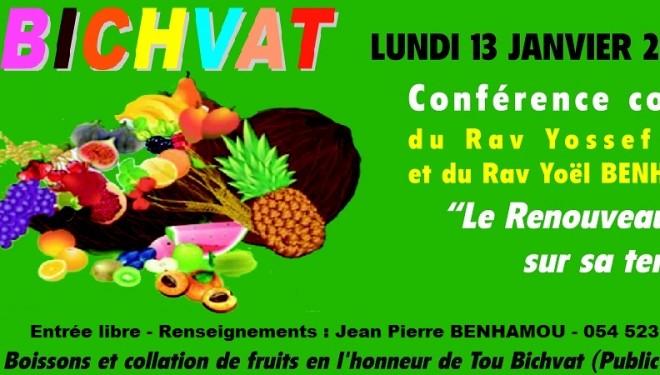 L'Espace Francophone d'Ashdod fête Tou Bichvat lundi 13 janvier à 20 h