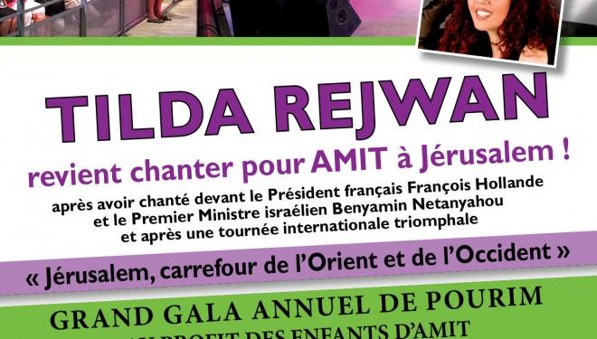 grand gala annuel de Pourim au profit des enfants d'Amit