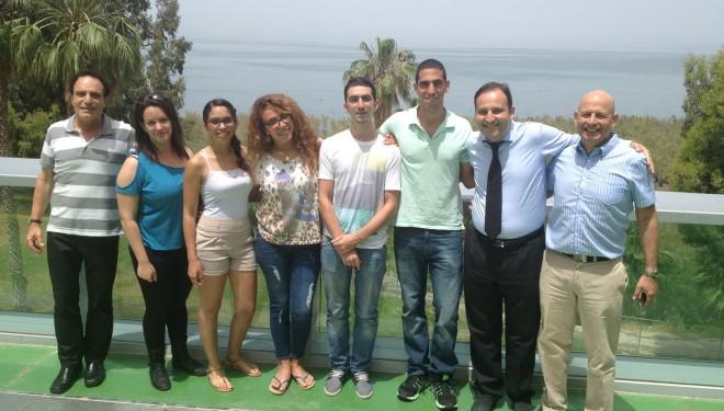 5 étudiants israéliens à l'école VATEL Nîmes en stage pratique en août 2014