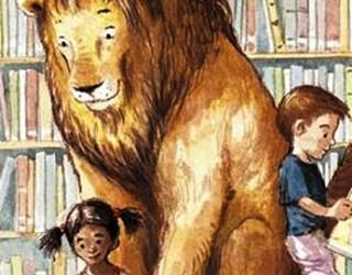 Histoire populaire «un lion vient nous rendre visite à la blibliotheque» municipale d'Ashdod