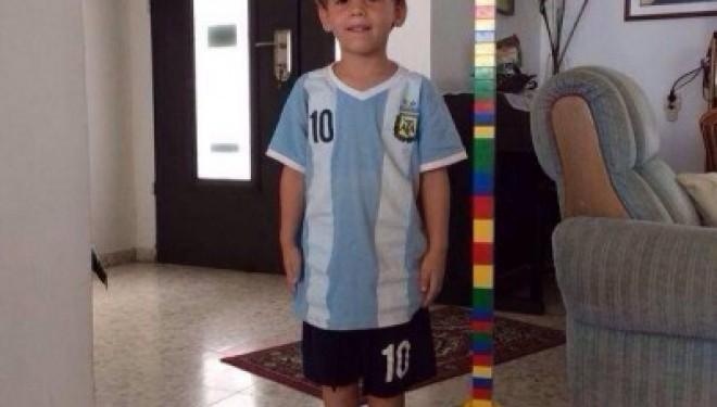 Un petit garçon aux couleurs de l'Argentine…il n'avait que 4 ans !