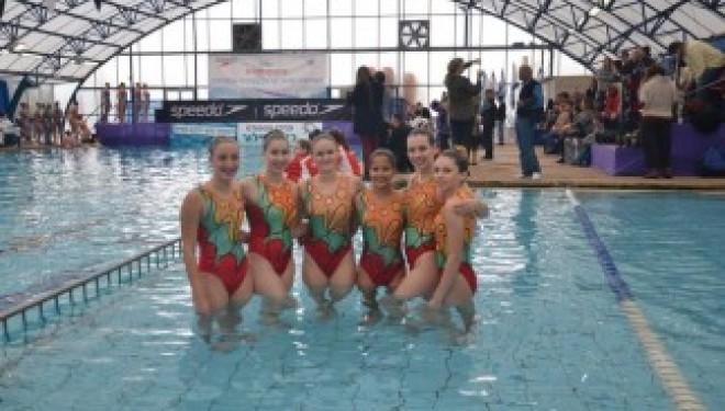 Ashdod : Les nageuses médaillées en natation synchronisée