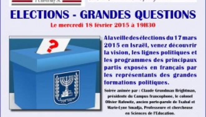 Politique : Elections en Israël – Grandes questions