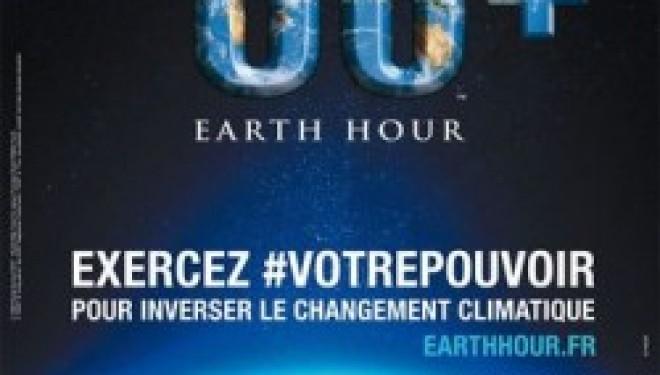 Earth Hour : 1 heure pour la planète -eteignez toutes vos lumières de 20 h 30 à 21 h 30 ce samedi 28 mars