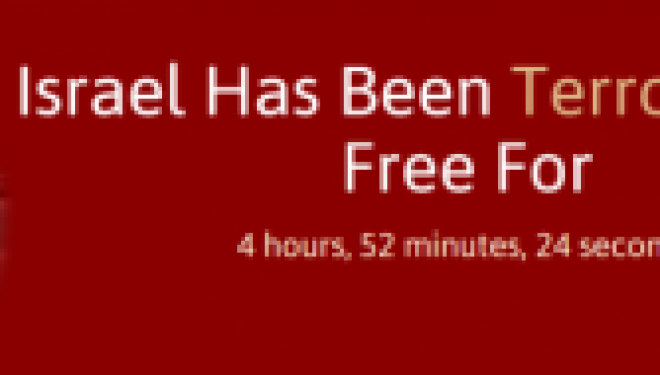 Nouveau : un Site Web qui indique combien de temps s'est ecoule depuis la dernière attaque terroriste