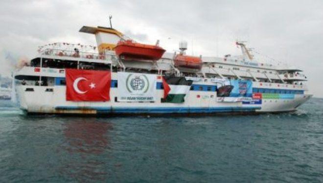 Départ vers Ashdod d'un bateau turc chargé d'aide pour Gaza