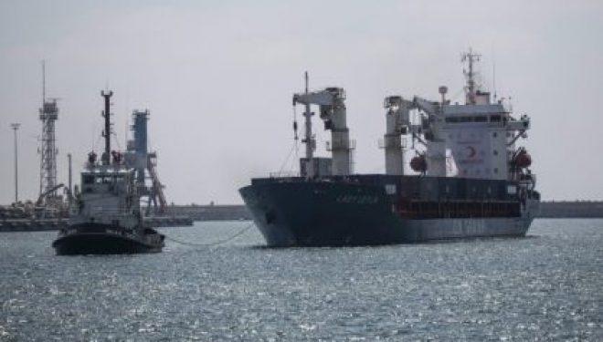 Un navire turc jette l'ancre a Ashdod