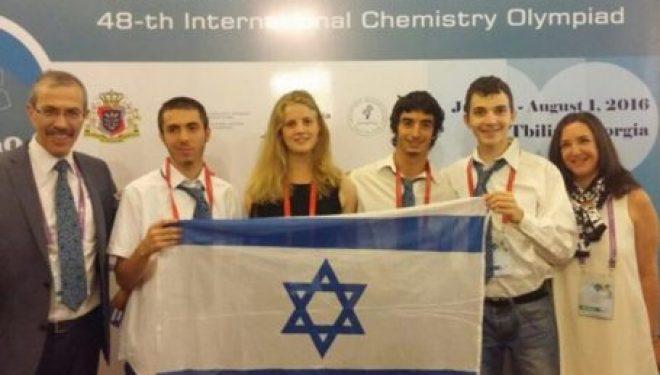 48 eme olympiade internationale de chimie : deux médailles pour Israël dont une de bronze pour Ashdod