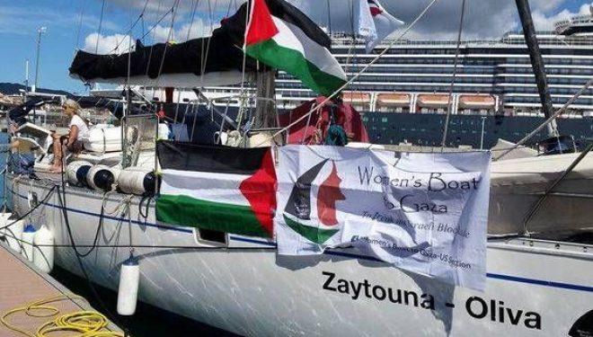 le «bateau des femmes», intercepté mercredi sans violence, a été conduit au port d'Ashdod