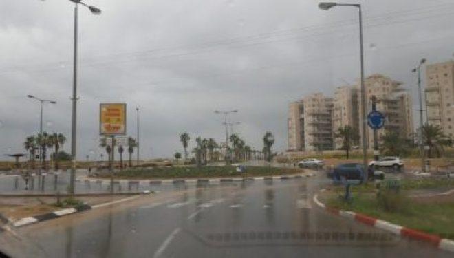 Ashdod, l'hiver s'installe dans notre région