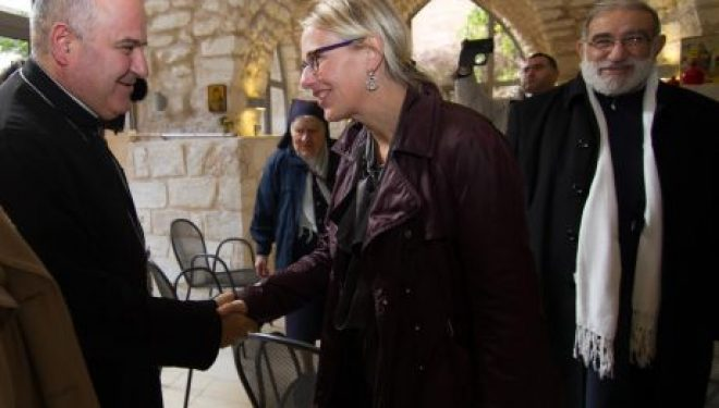 Visite de l'ambassadrice de France en Israël à Nazareth