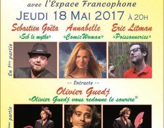L'espace francophone vous invite au Festival du Rire 2017 le 18 mai prochain !