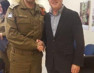 Visite d'un General invité du premier magistrat de la ville d'Ashdod