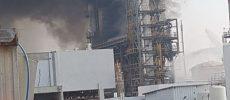 gigantesque incendie hier a Ashdod !