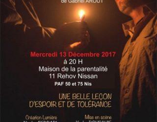 «OUI» de Gabriel AROUT, une belle pièce de théâtre pour Hanoucca
