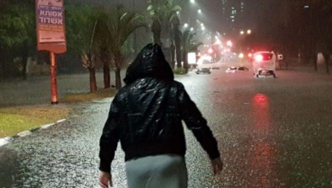 En quelques heures : 80 mm de pluie et de grêle sont tombés à Ashdod