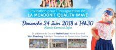 IMAVE : inauguration de la Moadonit Imave Qualita pour des enfants francophones le 24 Juin 2018